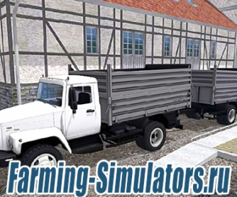 Грузовик «ГАЗ САЗ-35071» + «SAZ-83173»  для Farming Simulator 2015 - скриншот