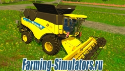 Комбайн «New Holland CR9.90 Yellow» v1.0 для Farming Simulator 2015 - скриншот