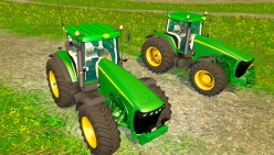 Трактор «John Deere 8220» v3.0 для Farming Simulator 2015 - скриншот