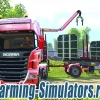 Лесовоз с краном «Scania R730 Forests» + прицеп для Farming Simulator 2015 - скриншот